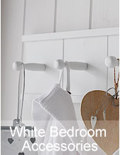 White bedroom accessories